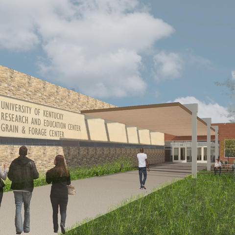 rendering of Grain and Forage Center of Excellence