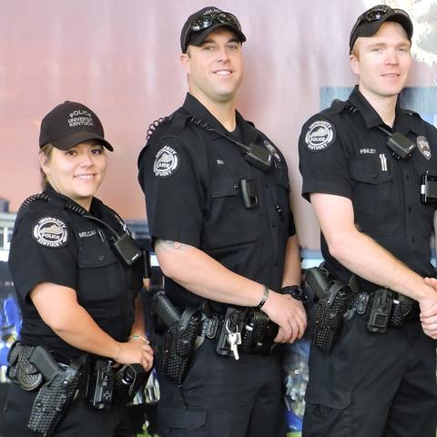 photo of five UK Police officers