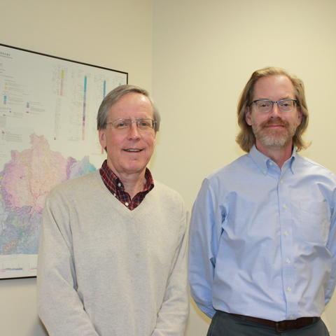 photo of Dave Harris and John Hickman