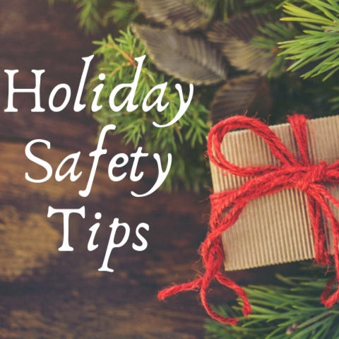 graphic that says Holiday Safety Tips