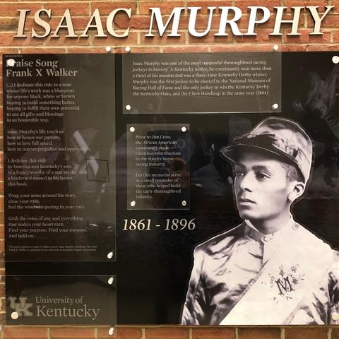 photo of Isaac Murphy memorial