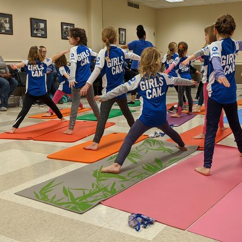 Girls Can yoga event