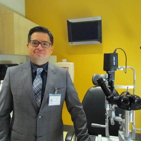 Dr. Ramiro Maldonado, assistant professor of ophthalmology