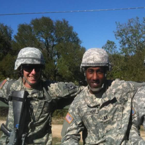 Ahmad Alexander and 2 fellow service members