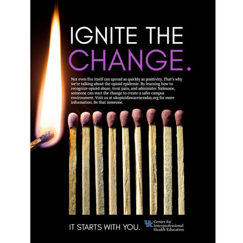 poster made by the ISC class that says Ignite the Change
