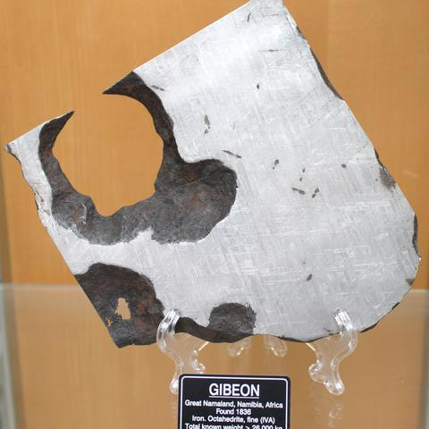 photo of a meteorite from Africa