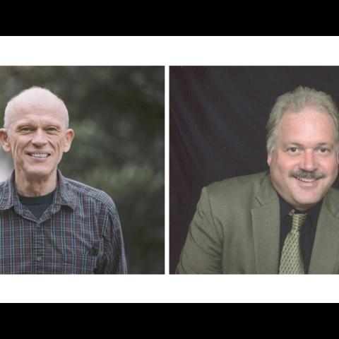 Michael D. Bardo (left) is the 2021 recipient of the Albert D. Kirwan Memorial Prize. Mark T. Fillmore (right) is the 2021 recipient of the William B. Sturgill Award.