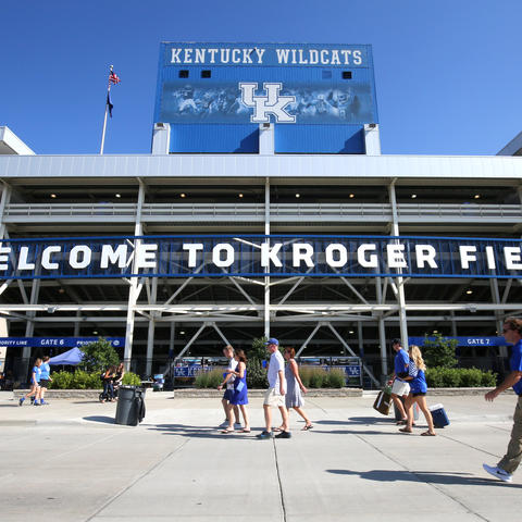 photo of entrance to Kroger Field