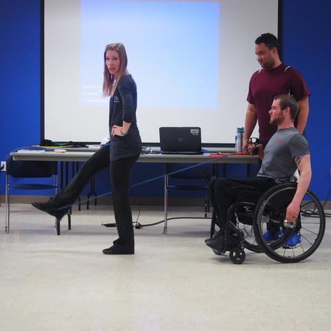 leg lift demonstration