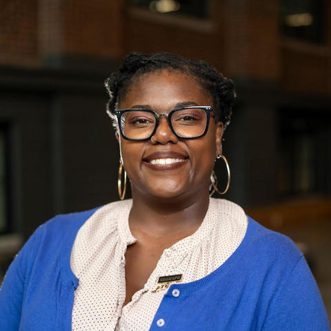 Photo of Letitia Tajuba, Assistant Director of Outreach and Recruitment for the Center for Graduate and Professional Diversity Initiatives