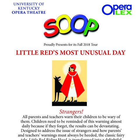 "photo of ""Little Red's Most Unusual Day"" flier"