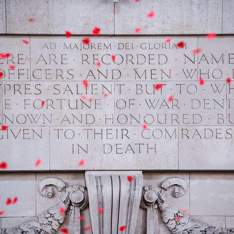photo of Menin Gate in Ypres, Belgium