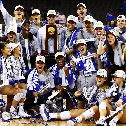 photo of UK Volleyball after national championship win