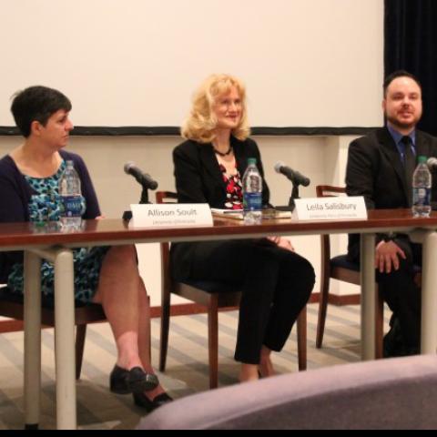 photo of Open Educational Resources panel - Allison Soult, Leila Salisbury & Jeff Gallant