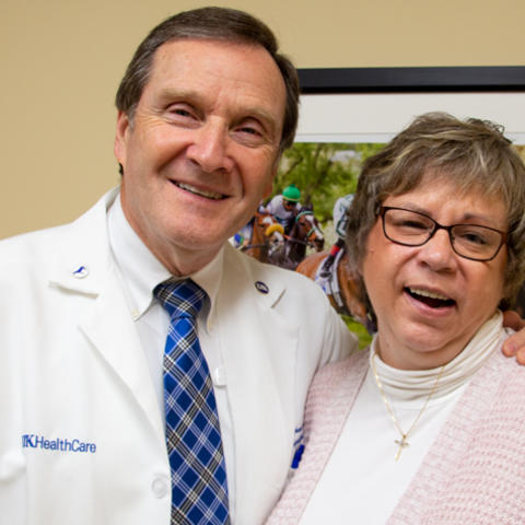 Dr. Okeson and Pam Ziegler | Photo courtesy UK Dentistry