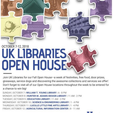 photo of poster for UK Libraries Open House