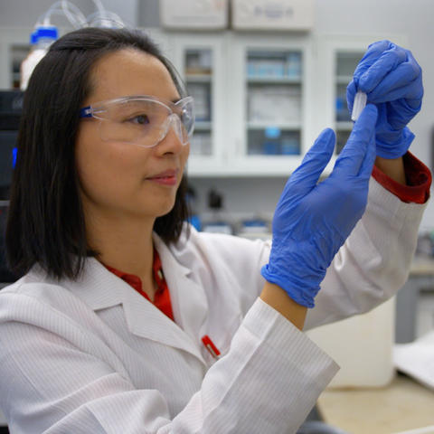 Pan Deng, a postdoctoral researcher with UK's Superfund Research Center, is leading a study that shows a high-fiber diet could possibly reverse the harmful effects environmental toxins like PCBs have on cardiovascular health.