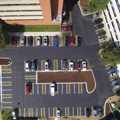 photo of Huguelet parking lot