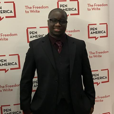 photo of Rion Amilcar Scott at PEN/America Literary Awards