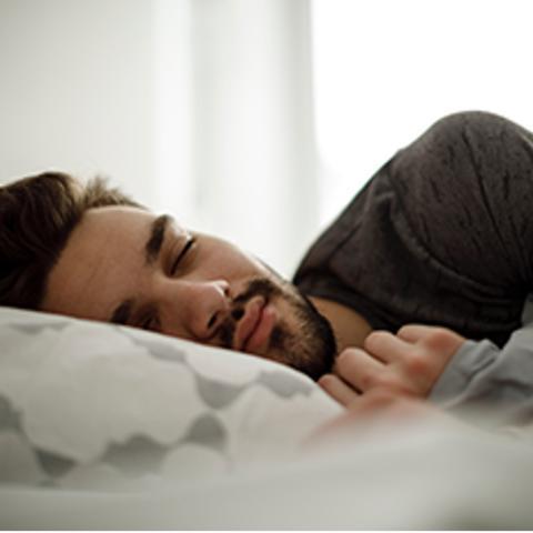 Man sleeping.