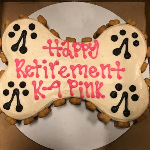 photo of Pink's retirement cake