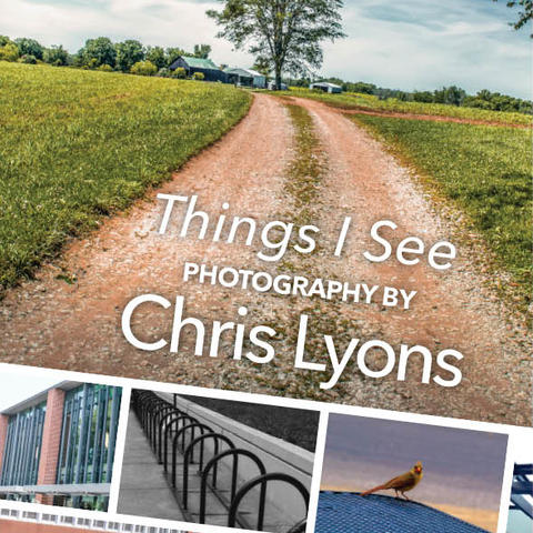 postcard image featuring the photographs of Chris Lyons