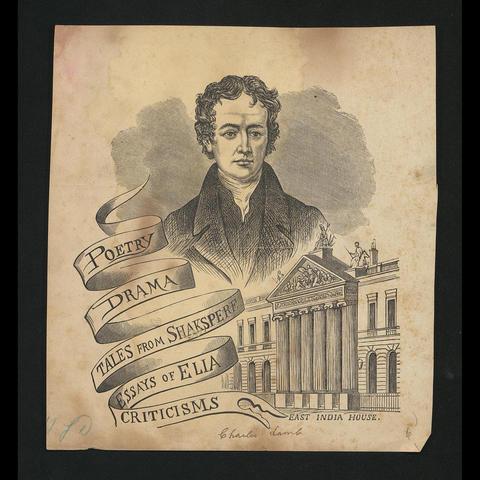 photo of print of Charles Lamb, Mary Lamb and the Lamb family