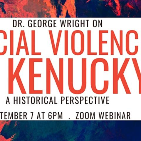 "photo of eventbrite banner for ""Racial Violence in Kentucky"" webinar"
