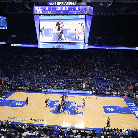 photo of UK playing in Rupp Arena