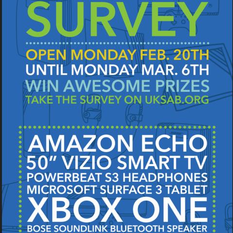 SAB All Student Survey flyer