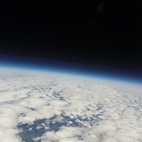 Photo of space from previous test flight