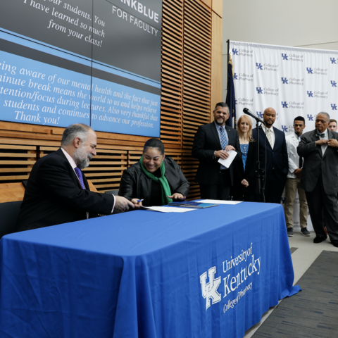Photo from UK College of Pharmacy/KSU partnership announcement