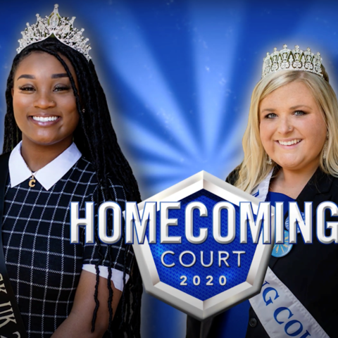 Chloe Kellom, left, is this year's Miss Black UK; Faith Turner is Homecoming Queen; and Cameron French is the 2020 Homecoming King.