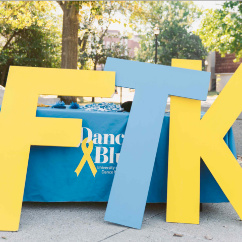 FTK letters in blue and yellow