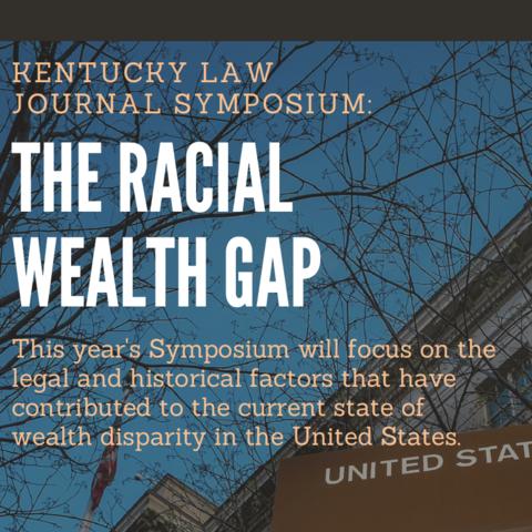 'The Racial Wealth Gap' symposium digital flyer