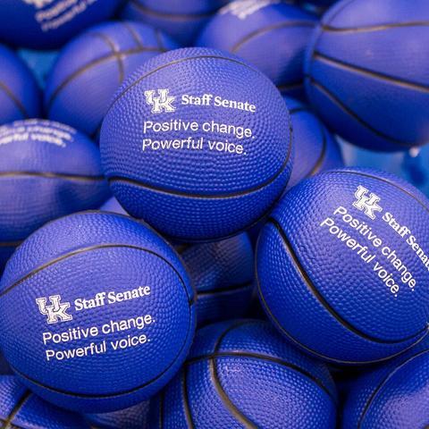 photo of stress balls promoting Staff Senate