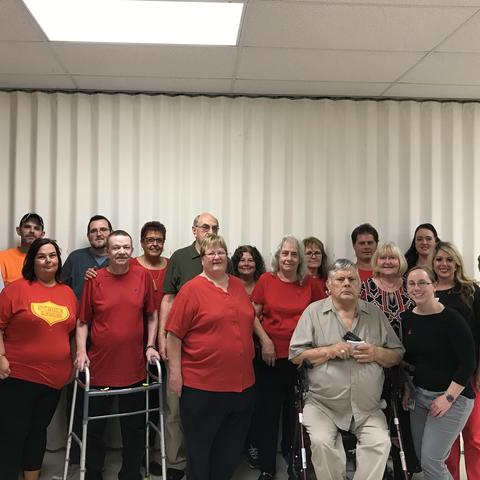 Participants of the stroke survivor and caregiver support group in Hazard, Ky.