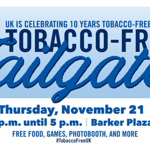 graphic advertising tobacco-free tailgate event