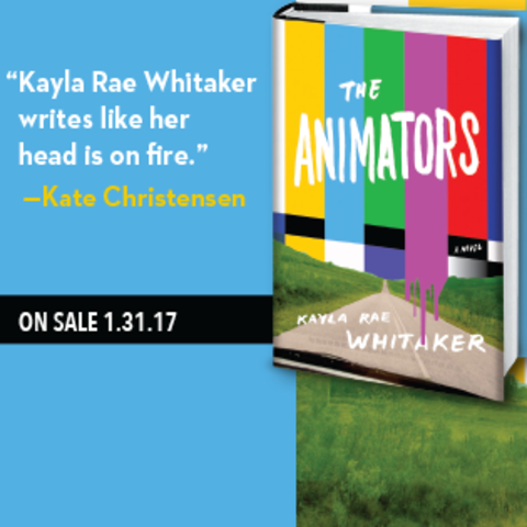 """photo of ad for """"The Animators"""" by Kayla Rae Whitaker"""