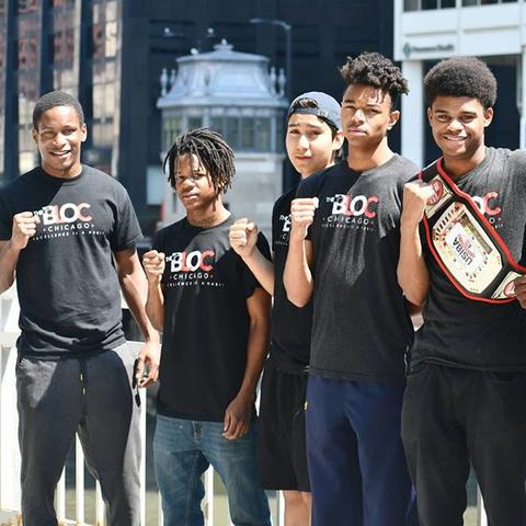 Jamyle Cannon (pictured far left) has been named a CNN Hero. Photo courtesy of The Bloc Facebook page.