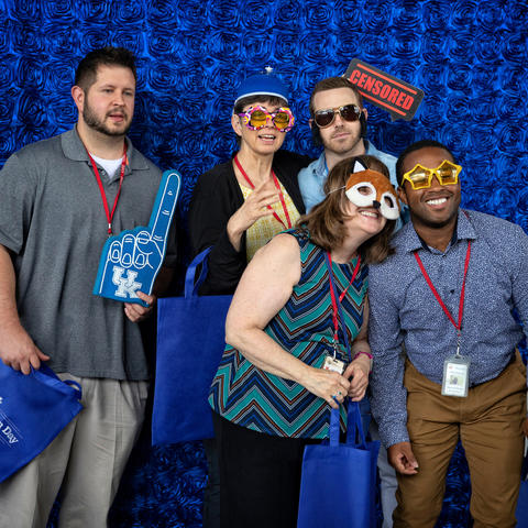 UK employees enjoying the photo booth at the 2019 UK Appreciation Day