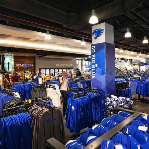 photo of merchandise inside of UK Bookstore