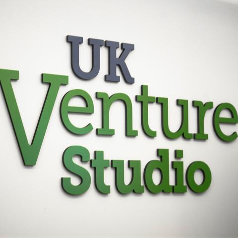 photo of UK Venture Studio signage