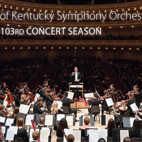 photo of UKSO playing at Carnegie on 2021-22 season brochure