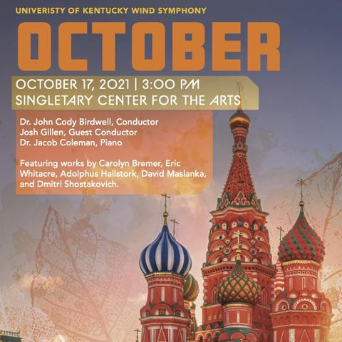 """image of UK Wind Symphony's """"October"""" poster"""