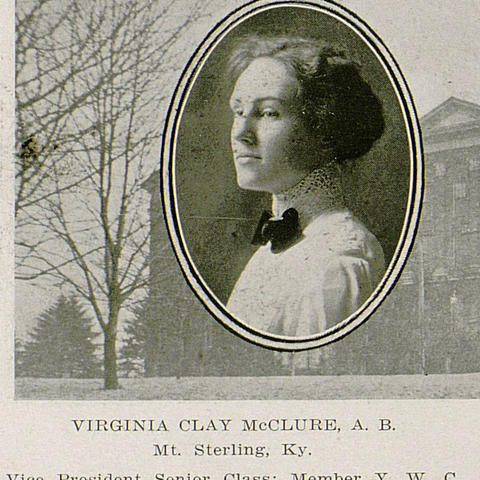 senior photo of Virginia Clay McClure from yearbook