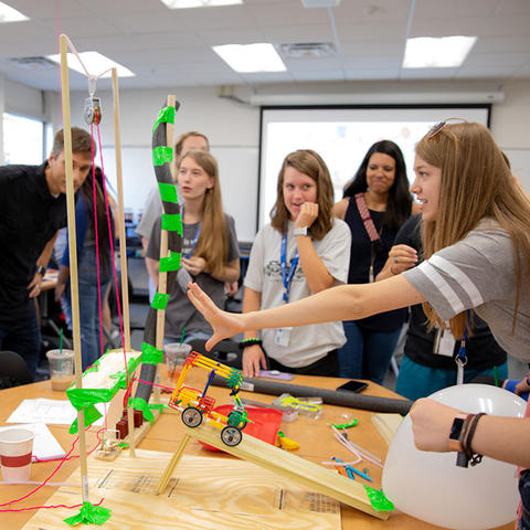 Photo of students at WiE Explore Camp