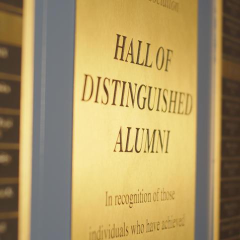 photo of UK Hall of Distinguished Alumni plaque