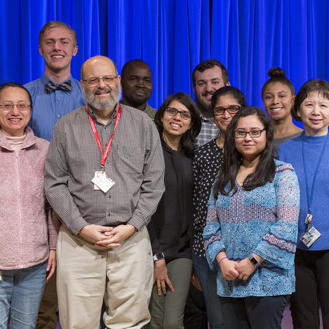 University of Kentucky professor Sidney Whiteheart (fourth from left) with members of his lab and rotation students. Whiteheart is leading a study on platelet function that will provide the groundwork for important therapeutic development.