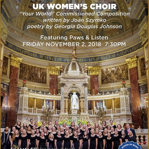 photo of poster for November UK Women's Choir concert